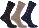 Universal Textiles Mens Cotton Rich Light Elasticated Top Socks (Pack Of 3)