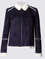 Marks and Spencer PETITE Shearling Slip Pocket Jacket