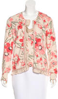 John Galliano Angora Floral Print Cardigan Set