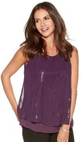 M&Co Sleeveless sparkle shell top