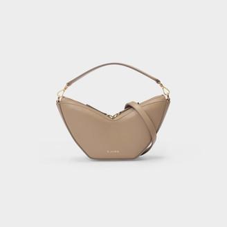 S.JOON Mini Tulip Bag In Beige Smooth Leather