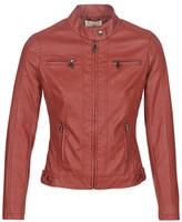 Moony Mood AW075-ROUGE women's Leather jacket in Red