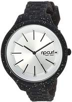 Rip Curl 'Horizon' Quartz Plastic and Silicone Sport Watch, Color:Black (Model: A2974G-NVA)