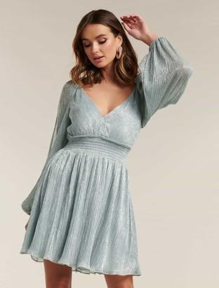 Forever New Rosalia Plisse Mini Dress - Mint - 12
