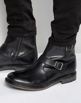 Base London Zinc Leather Biker Boots