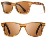Shwood Women's 'Canby' 54Mm Polarized Wood Sunglasses - Walnut/ Brown Polar