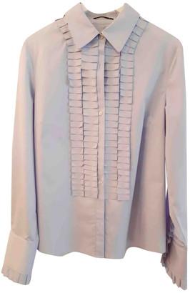 Elie Tahari Blue Cotton Top for Women