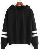 Susenstone Womens Long Sleeve Hoodie Sweatshirt Jumper Hooded Pullover Tops Blouse (XL)