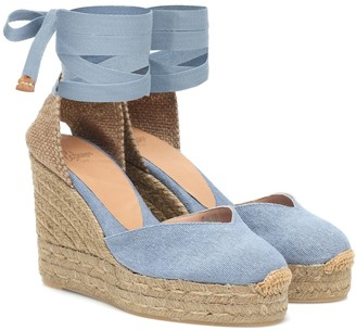 Castaner Chiara denim wedge espadrilles
