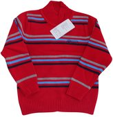 XiaoYouYu Little Boy's Fashion Striped High Neck Soft Cotton Pullover Tops US Size 8