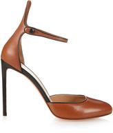 Francesco Russo Ankle-strap leather pumps