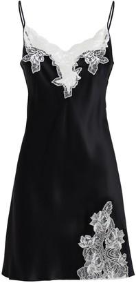Luna Di Seta Lace & Satin Slip Mini Dress