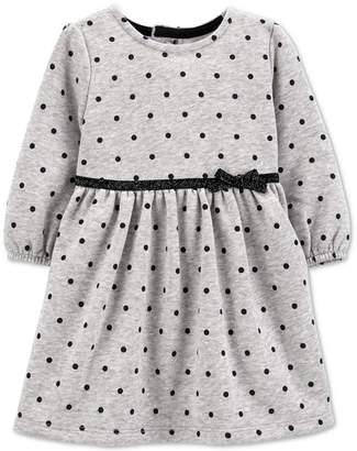 Carter's Carter Baby Girls Dot-Print Fleece Dress
