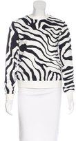 ADAM by Adam Lippes Cutout-Accented Printed Top