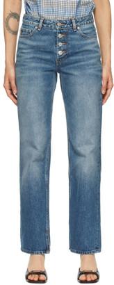 Ganni Blue Mid-Waist Relaxed Jeans