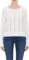 Frame Women's Le Long Sleeve Lace Top-WHITE