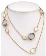 Rivka Friedman 18k Clad Crystal Deco 36in Necklace.