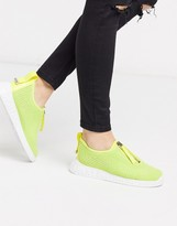 DKNY slip on trainer in neon