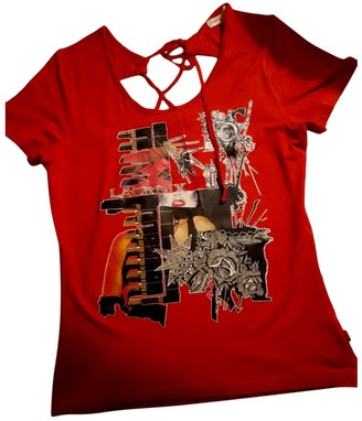 Christian Lacroix Red Cotton Top for Women Vintage