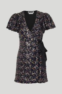 Rotate by Birger Christensen Frida Dress in Black Comb - xs | polyester