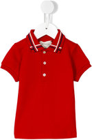 Gucci Kids - check collar polo shirt - kids - Cotton/Polyester/Spandex/Elastane - 3-6 mth