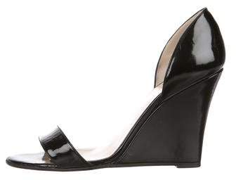 Christian Louboutin Patent Leather Wedge Sandals