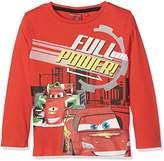 Disney Boy's Cars Lightning Mc Queen Track Star T-Shirt,(Manufacturer Size: 128 cm)