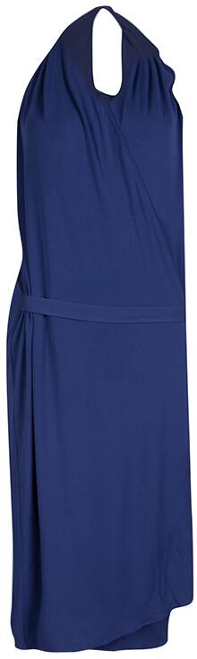 Maison Margiela Blue Knit Halter Wrap Dress L