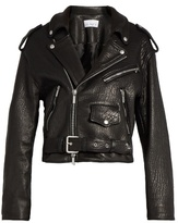 Raey Shrunken tumbled-leather biker jacket