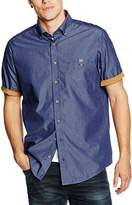 Casa Moda Men's Regular Fit Short Sleeve Leisure Shirt - Blue -