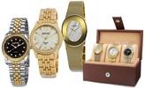 August Steiner Women's Gold Tone Watch Gift Set