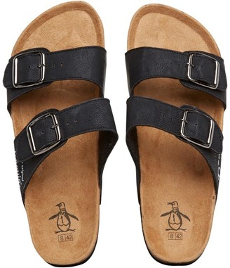 Original Penguin Mens Port Sandals Black