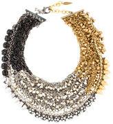 Assad Mounser Multistrand Crystal and Dangle Necklace