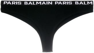 Balmain Logo Cotton Briefs