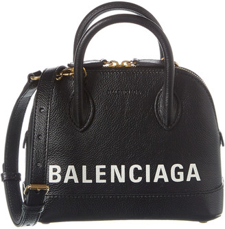 Balenciaga Ville Xxs Leather Top Handle Tote