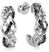 DazzlingRock Collection 2.00 Carat (ctw) 10k White Gold Heart Shape Green Peridot Diamond Halo Stud Earrings