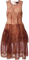 Simone Rocha floral print tulle flared dress - women - Nylon/Viscose/PBT Elite - 6