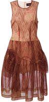 Simone Rocha floral print tulle flared dress