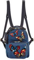 Valentino Garavani Camu Butterfly Denim Backpack