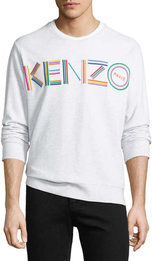 Kenzo Men's Multicolor Logo Crewneck Cotton Sweatshirt