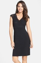 Adrianna Papell Shutter Pleat Jersey Sheath Dress (Regular & Petite) (Nordstrom Exclusive)