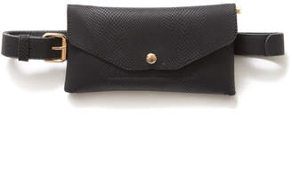 The Casery Black Croc Convertible Fanny Pack Black 1 Size