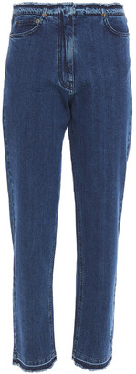 McQ Frayed High-rise Straight-leg Jeans