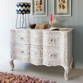 Graham and Green Antonia Mother of Pearl Inlay Chest of Drawers In White