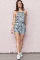 Garage Lace-Up Halter Romper