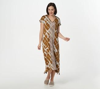 Logo by Lori Goldstein Rayon 230 Oversized Dress w/ Lace Front