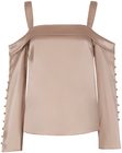 Exclusive for intermix antonia button detail top