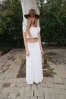 Tysa Wrap Skirt In Off White