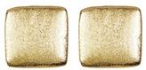 Rivka Friedman 18K Gold Clad Satin Square Stud Earrings