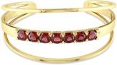 Catherine Malandrino 18k Yellow Gold Plated Open Wrap Cuff Bracelet.